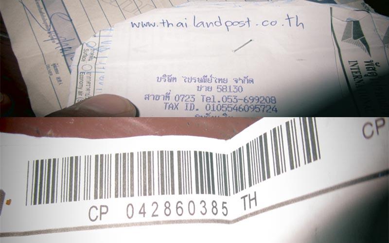 como enviar un paquete desde tailandia