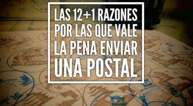 12+1 razones por las que vale la pena enviar una postal