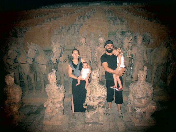 china con niños